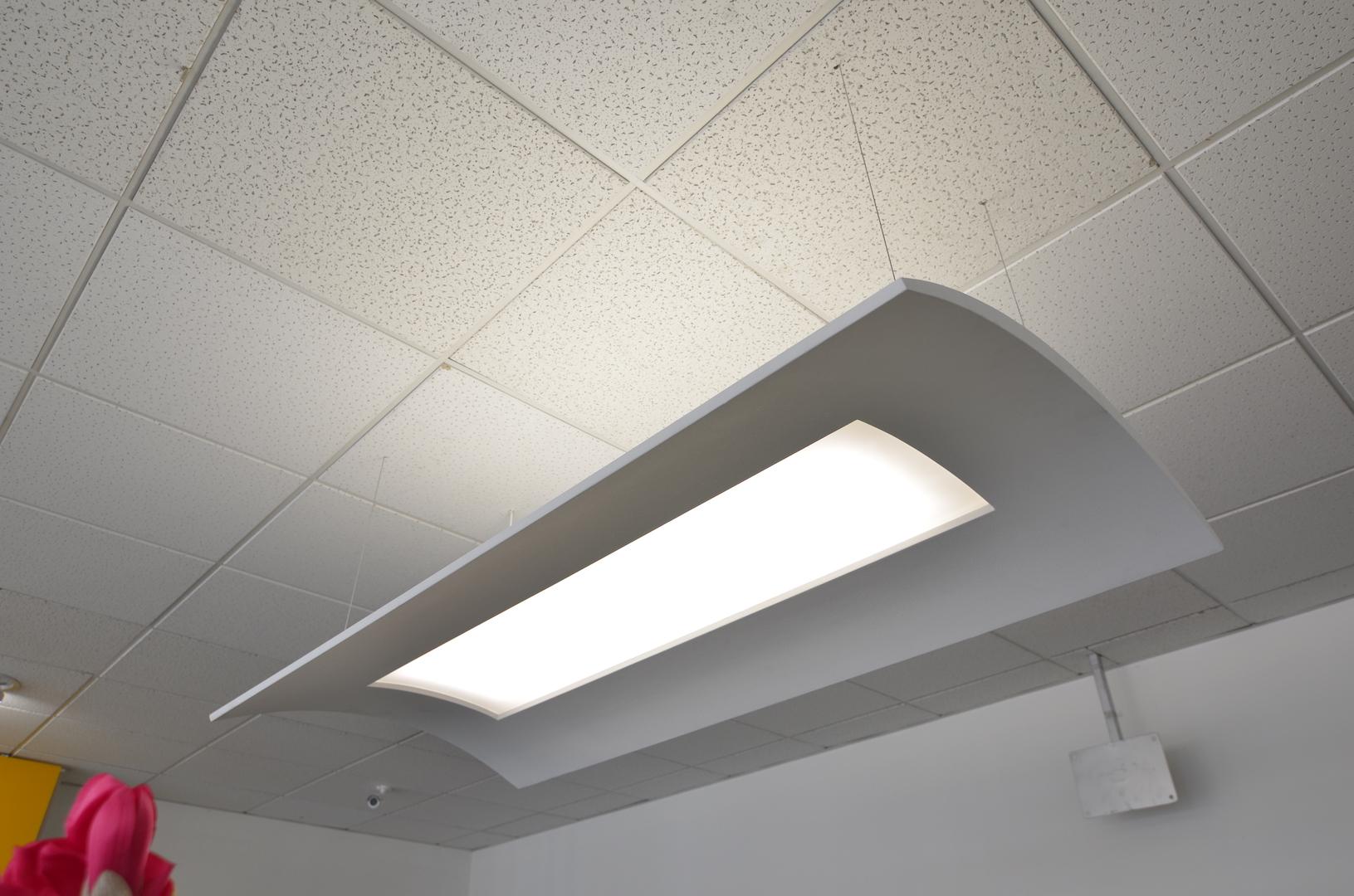 Sádrové LED svítidlo pro nasvícení klemby