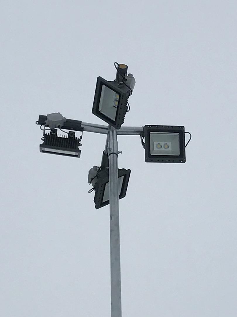 LED nasvětlení parkoviště Říčany